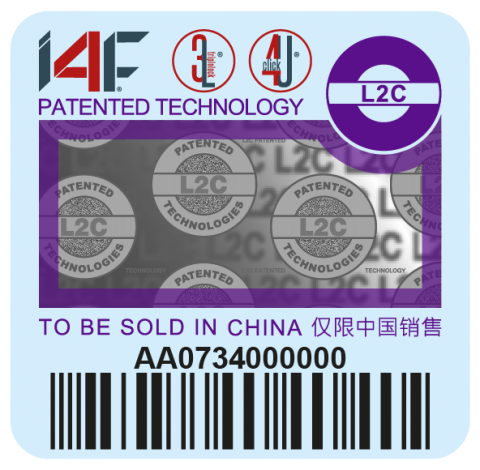 Purple I4F label