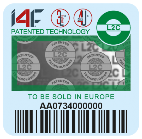 Green I4F label