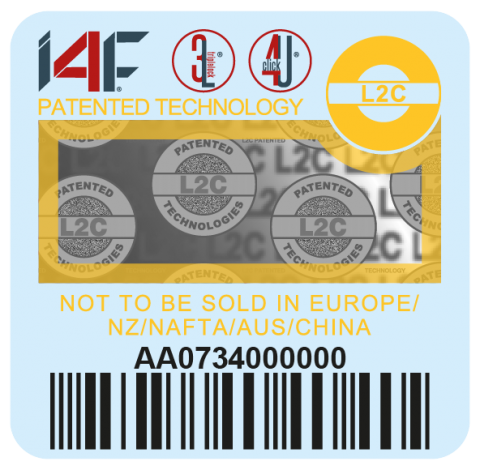 Yellow I4F label