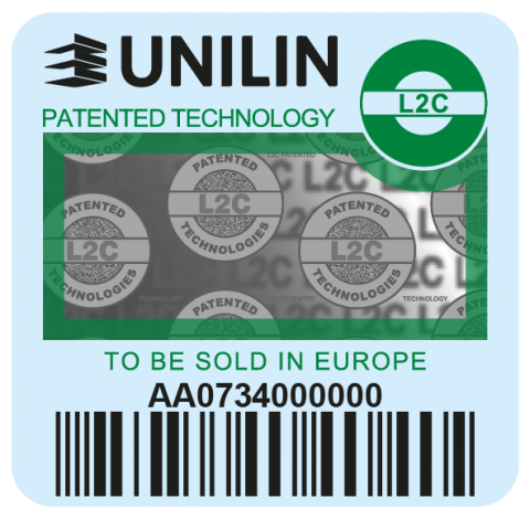 Green Unilin label